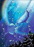 Diy 5D Mariposa Diamante Pintura Por Número Kit,Delfín Diamond Painting,Punto de cruz diamante adorno con cristales de imitación de diamante manualidades para decoración de pared 40x50cm
