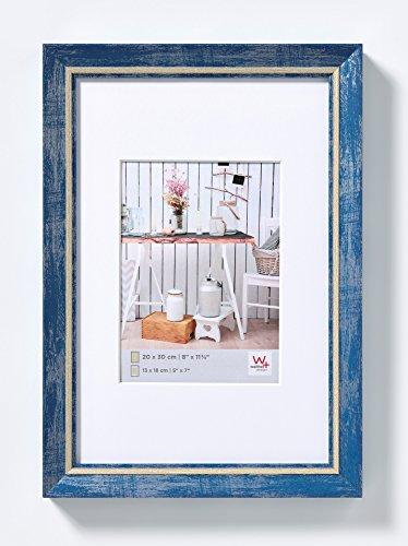 walther design EL040L Chalet Bilderrahmen, 30x40 cm, Blau