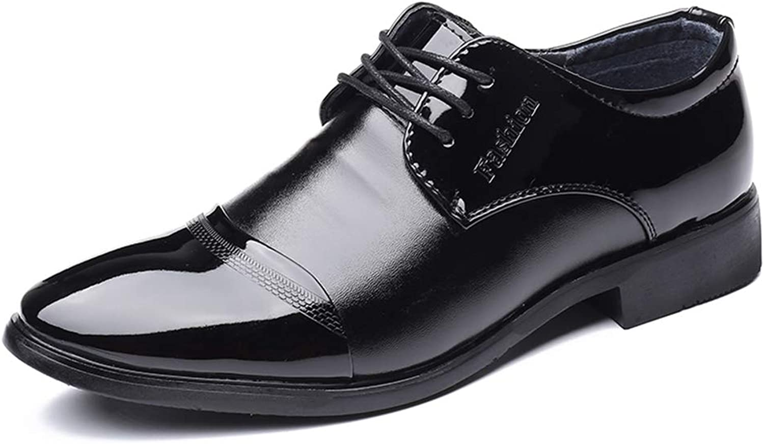 SRY-shoes Men's Fashion Business Oxford Casual Comfortable Classic Simple Pure color Sole Patent Leather Formal shoes