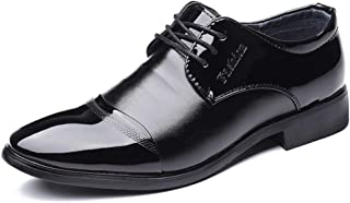 2018 Mens New Arrival Shoes, Men's Casual Business Oxford Shoes, Classic Simple Pure Color Sole Patent Leather Formal Shoes