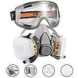 Faburo Respirateur Demi-Masque/Protection Masque à Double Couche de Protection/filtres montées/Masque Respiratoire Réutilisable