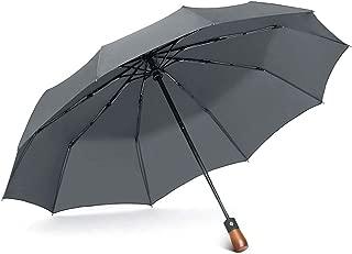 YQRYP Umbrella Automatic Folding Umbrella Female Sunny Dual-use Umbrella Self-Opening Men's Oversized Folding Umbrella Reinforcement Wind Windproof Umbrella, Golf Umbrella (Color : Gray)