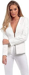 Momo&Ayat Fashions Ladies Pearl Collerless Tailored Blazer AUS Size 8-16