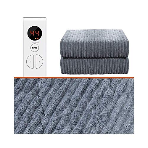 WYZQ Electric Heated Throw Over Blanket, Easy To Use | Digital Control | Machine Washable | Dual Controls | Overheat Protection | Double Size Fleece (Size : 180 * 150cm),Bed Throws