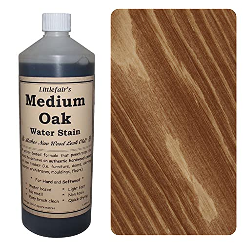 Littlefairs umweltfreundliche wasserbasierte Holzlasur und Farbe - Traditionelles Sortiment (250ml, mittlere Eiche)