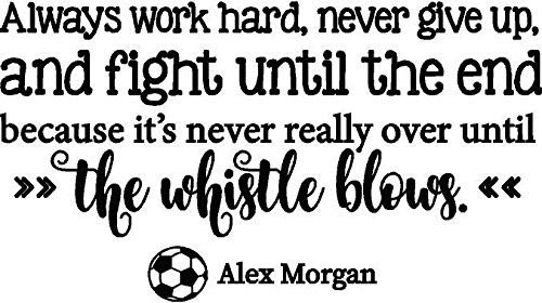 Alex Morgan Soccer Wall Decal - USA Womens World Cup Sticker/Vinyl Quote Décor for Bedroom - 20'x12'