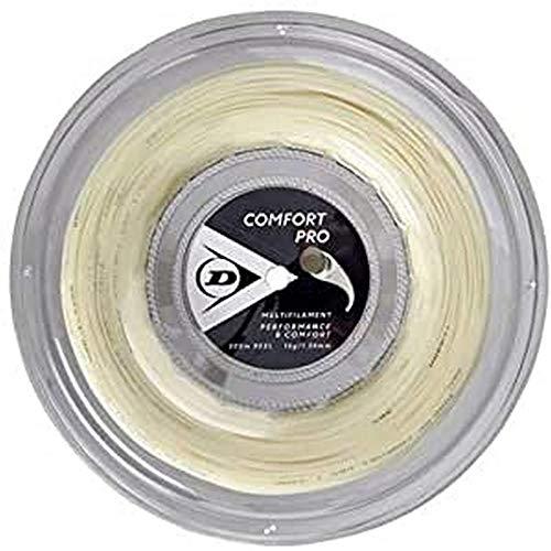 Dunlop Unisex-Adult 624815 Tennis String Comfort Pro 200m Rolle 134mm 1Stück, Natural, One Size