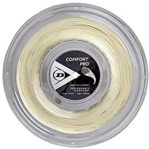 Dunlop Unisex-Adult 624815 Tennis String Comfort Pro 200m Rolle 134mm 1Stück, Natural, One Size
