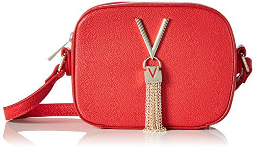 Mario Valentino Valentino by Damen Divina Handtasche, Rot (Rosso), 6x13x17 cm