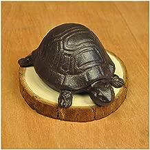 Cute Cast Iron Tortoise Statue Outdoor Garden Spare Key Hider Storage Box Home Office Desk Garden Decoration Ornament