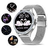 SmartWatch Damen,Yocuby stilvoll 1,1' Voller Touchscreen Smart Watch Fitnessuhr mit IP68...