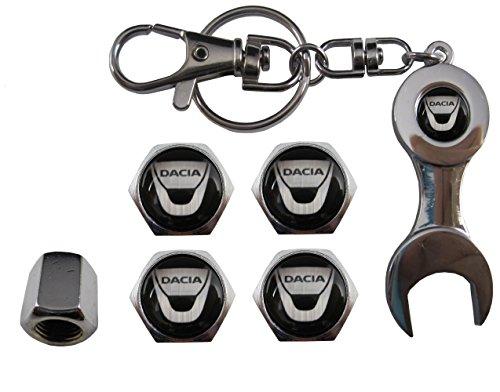 ETMA Llavero Metal + valvulas Compatible con Dacia aut011-2