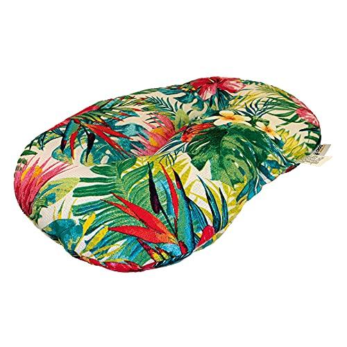 Croci Coussin Ovale pour Chiens et Chats Amazzonia, Meuble utilisable des Deux côtés, Motif Jungle Style 53 x 35 cm