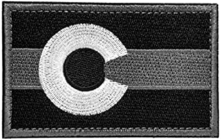 SpaceAuto Colorado State Flag Tactical Morale Patch Black Gray