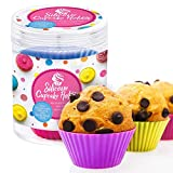 Cupcake Holder Silicone Muffin Cups Cake Molds 12 Stand Alone Reusable Flexible Non-Stick Baking Liners Standard Size Oven, Dishwasher, Freezer, and Microwave Safe 6 Vibrant Colors 2 of Each
