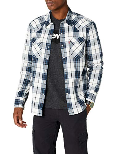 Levi's Barstow Western Camisa, Wildcat Dress Blues, S para Hombre