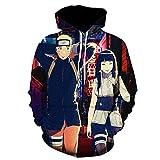 cshsb Sudaderas Hombre Naruto Ninja Chaqueta con Capucha Camiseta Naruto Manga Larga Jersey para Fanes de Anime,XS-S