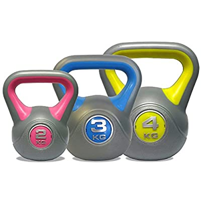 DKN Unisex's Vinyl Kettle Bell Weight Set, Multi-Colour