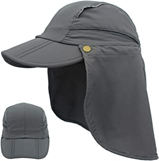 ZRL77y Unisex Sun UV Protection Bucket Hat Outdoor Waterproof Wide Brim Hunting Hat Sun Hat Adjustable Chin Strap Beach Ha...