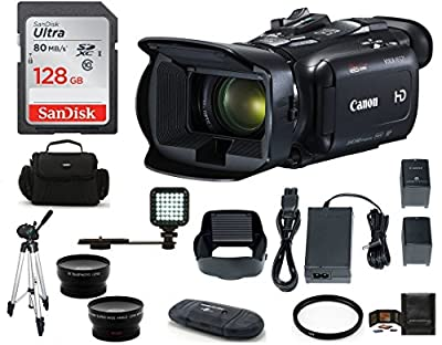 Canon VIXIA HF G21 Full HD Camcorder Bundle, Includes: 128GB SDXC Memory Card, LED Light, Spare Battery, 58mm Telephoto & Wide Angle Lenses, Camcorder Bag and More. by Canon