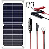 SUNAPEX 10W 12V Portable Solar Battery Charger & Maintainer - Solar Panel-Built - in Intelligent Charge Controller-Solar...