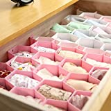 Honeycomb Drawer Divider, Adjustable Drawer Dividers Organizer Separators, Honeycombs Clapboard Divider Separator, for Underwear Socks Tie (Elegant Pink)