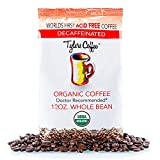 Tyler's No Acid Organic Coffee Beans - 100% Arabica Full Flavor Decaf - Neutral pH - No Bitter Aftertaste - Gentle on Digestion, Reduce Acid Reflux - Protect Teeth Enamel - For No Acid Diets - 12 oz