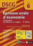 Épreuve orale d'économie se déroulant partiellement en anglais - DSCG 6 - Manuel, applications et corrigés