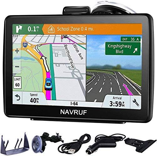 Navigatore satellitare per auto camion,7 pollici con aggiornamento gratuito a vita delle...