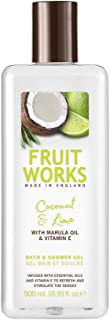 Fruit Works Coconut & Lime Cruelty Free & Vegan Bath & Shower Gel With Natural Extracts 1x 500ml