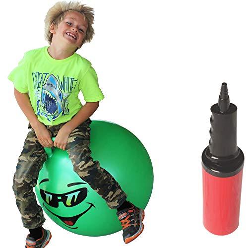 "WALIKI Hopper Ball for Kids 7-9 | Hippity Hop Ball | Jumping Hopping Ball | Therapy Ball | Green 20"""