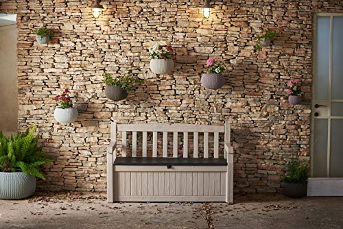 Koll Living tuinbank met kussenkist, 265 liter, weerbestendige opbergruimte, de blikvanger in de tuin