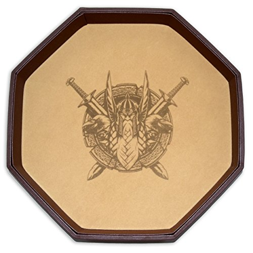 Odin's Battlefield 11.5 Inch Octagon D&D Dice Tray, an Epic Rolling Surface for Dungeons & Dragons