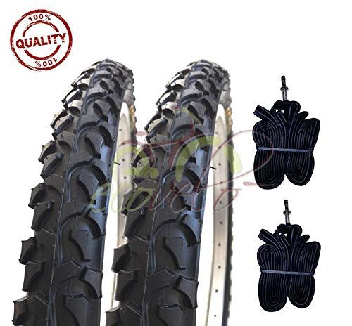 Ecovelò EBA20MBU 2 CAMERE + 2 COPERTONI Neri per Mountain Bike 20 X 1.95 (54-406) MTB Mountain Bike Bici Bicicletta