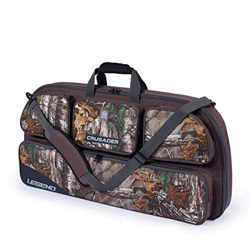 Legend Crusader Compound Bow Soft Case with Protective Padding - 35' Interior Storage for Hunting Accessories, Arrow Tube Holder and Supplies