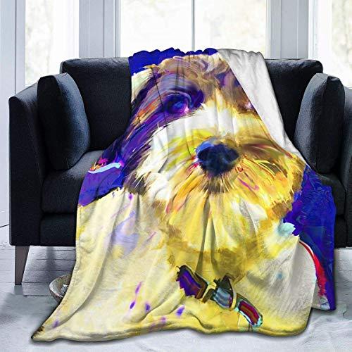 KNBNDB Coton-de-tulear-1-jackie-jacobson Forro Polar de Franela Ultra Suave con Estampado temático Divertido para Todas Las Estaciones, decoración cálida para habitación/Dormitorio, 50 x 60 Pulgadas