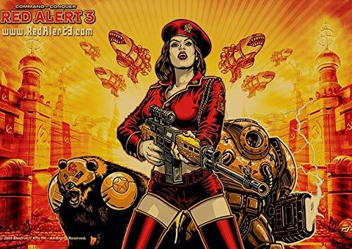 populaire confrontatie spel rode waarschuwing poster hoge kwaliteit canvas schilderij hoge kwaliteit home decor60x90cm