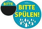 Effekt Aufkleber Sticker Urinal PEESIGN'Bitte Spülen!' Urinal Spiel
