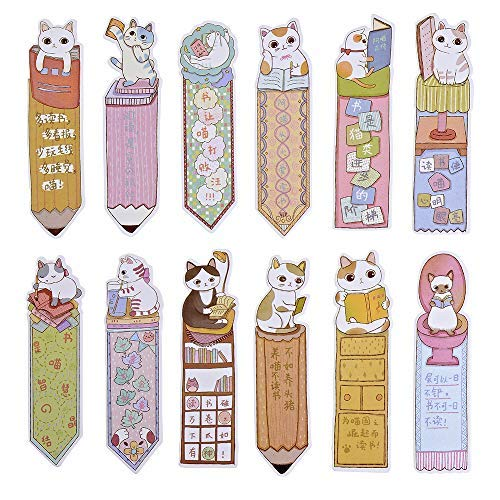 Dokuna Cute cat Bookmarks, 30PCS