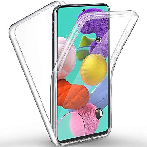 Funda per Samsung A51, 360 Grados Protección Case per Samsung Galaxy A51, Anfire Transparente Ultrafino TPU Silicona Frente y PC Back Funda Funda de Doble Protección Carcasas per Samsung Galaxy A51