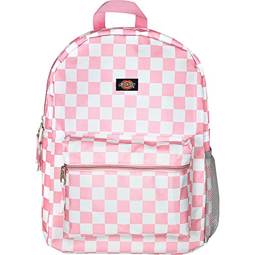 Dickies Student Backpack, Pink/White Checker, One Size