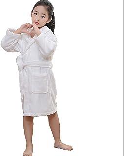 ZXJ Albornoz niños, Puro algodón Espesar Toalla de albergue Material del Vestido de los niños Alargado con Capucha Absorbe...