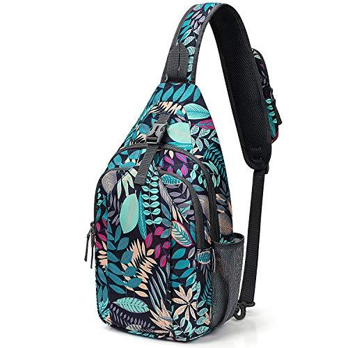 G4Free Sling Bag RFID Blocking Sling Backpack Crossbody Chest Bag Daypack for Hiking Travel