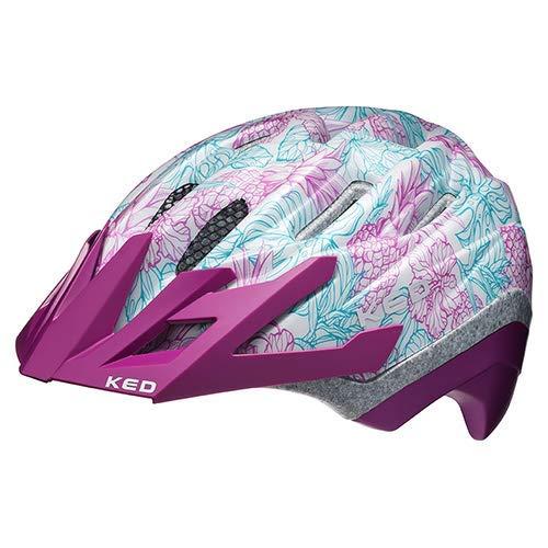 K-E-D KED Fahrradhelm Dera 2 - Allround-Helm in robuster maxSHELL- Technologie, Quicksafe- und Quickstopp-System - (SM (Kopfumfang 49-55 cm), Purple White)