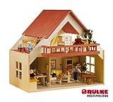 Rülke Holzspielzeug 23193 - Casa de muñecas (diseño con balcón) Color Rojo
