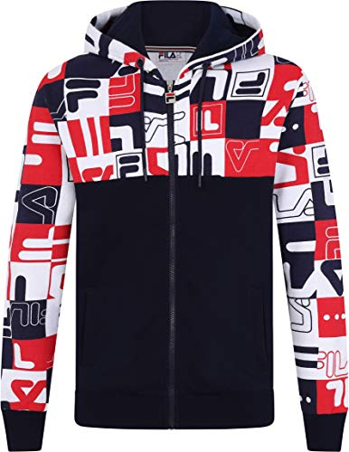 Fila Vintage Oswald Graphic Archive Print Hoodie Peacoat/White/Red
