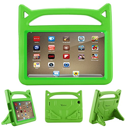 All-New Fire 7 Tablet Case,(Compatible with 7th Generation, 2017 Release/9th Generation, 2019 Release), Kids Shock Proof Protective Cover Case with Handle Stand for Fire 7 Inch Display Tablet(Green)