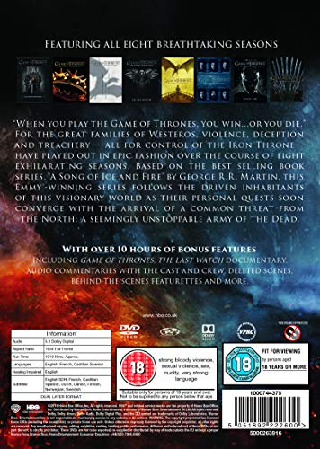 Game of Thrones: The Complete Series [DVD] [2011] [2019]