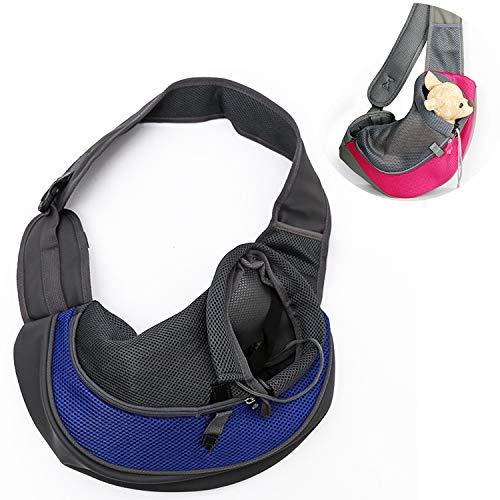 Hanks' shop Pet Supplies Single Shoulder Straddle Chest Dog Cat Breathable Portable Pet Bag,Size:Small (Color : Blue)