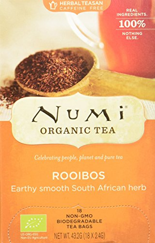 Numi Organic Rooibos - Red Mellow Bush 18 Beutel, 3er Pack (3 x 43 g) - Bio